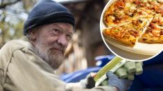 Grandioso gesto de una pizzería: regala alimento a gente sin hogar que busca comida en la basura