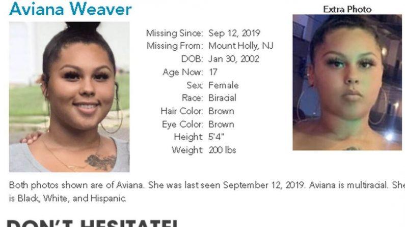 Mãe de uma menina desaparecida de 17 anos, Aviana Weaver, disse que viu suas fotos publicadas em sites de tráfico sexual (Centro Nacional para Crianças Desaparecidas e Exploradas)