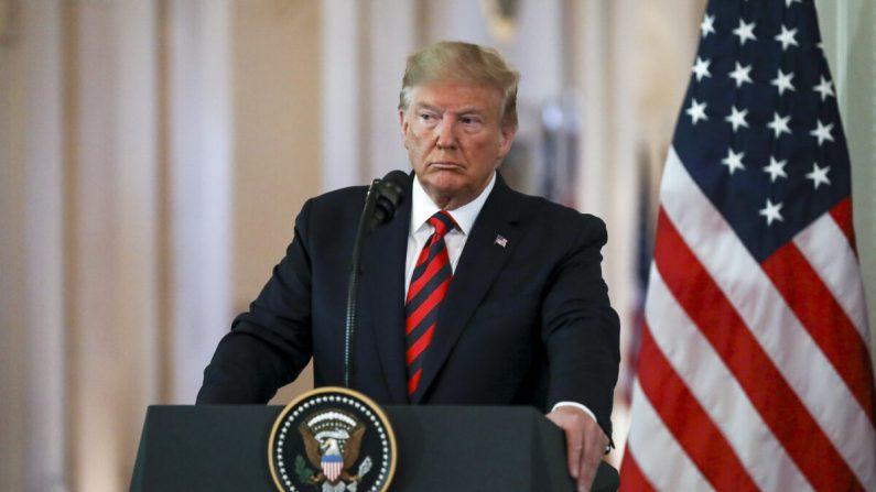 El presidente Donald Trump en una conferencia de prensa en la Sala Este de la Casa Blanca en Washington el 20 de septiembre de 2019. (Charlotte Cuthbertson/La Gran Época)
