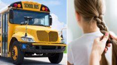 Conductora de autobús trenza el cabello de una niña todos los días después de la muerte de su madre