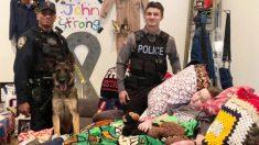 El deseo final de un paciente de cáncer de 11 años es honrado por las fuerzas de seguridad y ejército