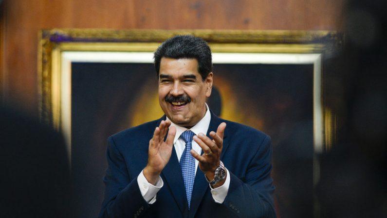 Nicolás Maduro, dictador de Venezuela, durante la ceremonia en el Palacio de Miraflores el 27 de junio de 2019 en Caracas, Venezuela. (Matias Delacroix/Getty Images)