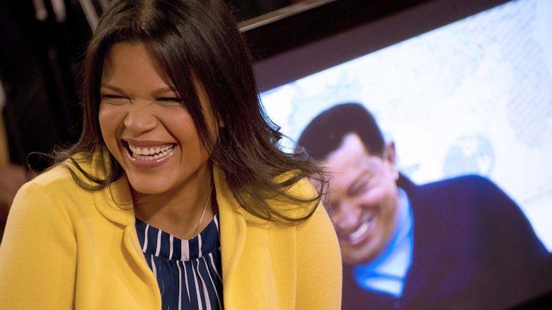 La hija del exlíder venezolano Hugo Chávez, María Gabriela, en el palacio presidencial de Miraflores, en Caracas, el 27 de junio de 2013. (LEO RAMIREZ/AFP/Getty Images)