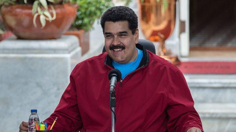 Imagen de archivo del dictador venezolano Nicolás Maduro. (FEDERICO PARRA/AFP/Getty Images)