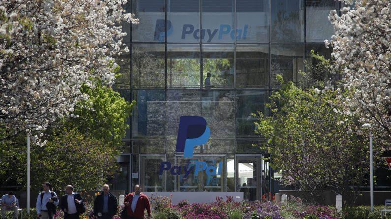 Oficinas centrales de PayPal en San José, California. (Justin Sullivan/Getty Images)