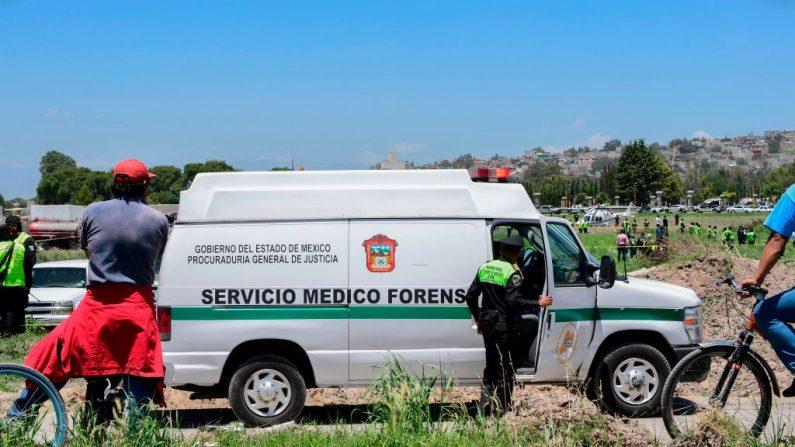 Servicio Médico Forense de México. (PEDRO PARDO/AFP/Getty Images)