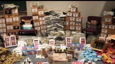 Policía encuentra depósito de golosinas con marihuana pocos días antes de Halloween