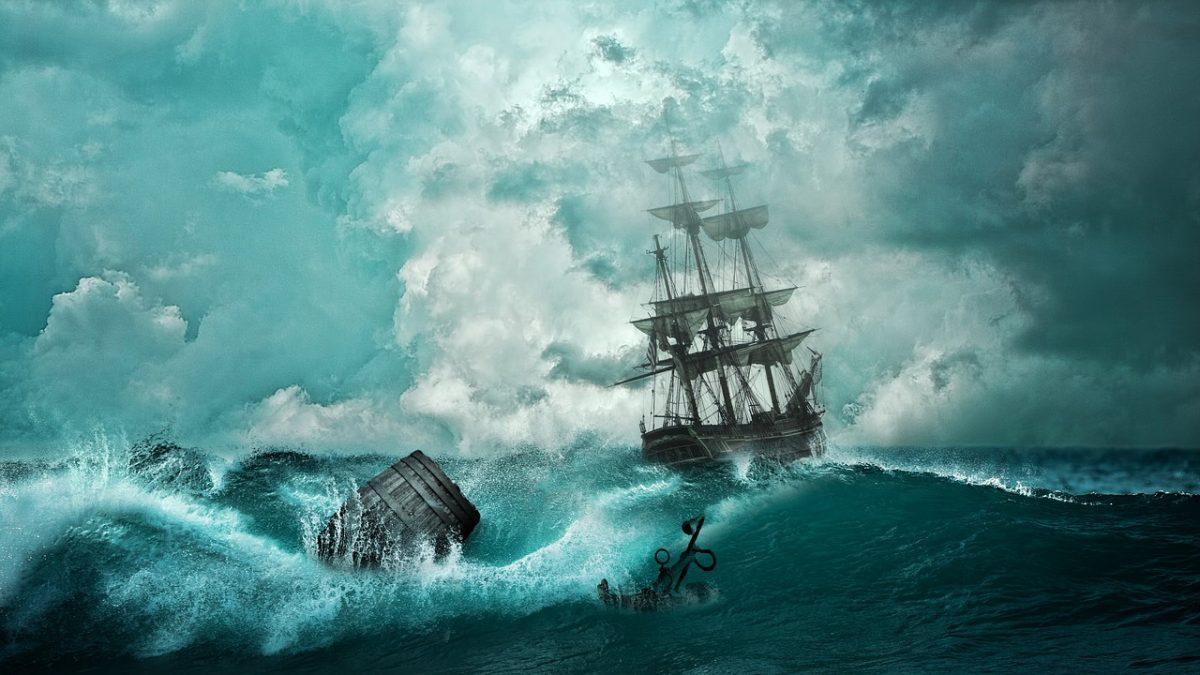 """El eterno enigma del """"Mary Celeste"""", el barco fantasma encontrado navegando sin tripulación Barco-tormenta-1200x675"""