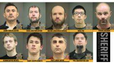 Nueve hombres son arrestados en operativo encubierto para capturar a depredadores infantiles