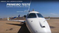 Embraer e UFES conduzem primeiro teste de aeronave autônoma no Brasil (Vídeo)