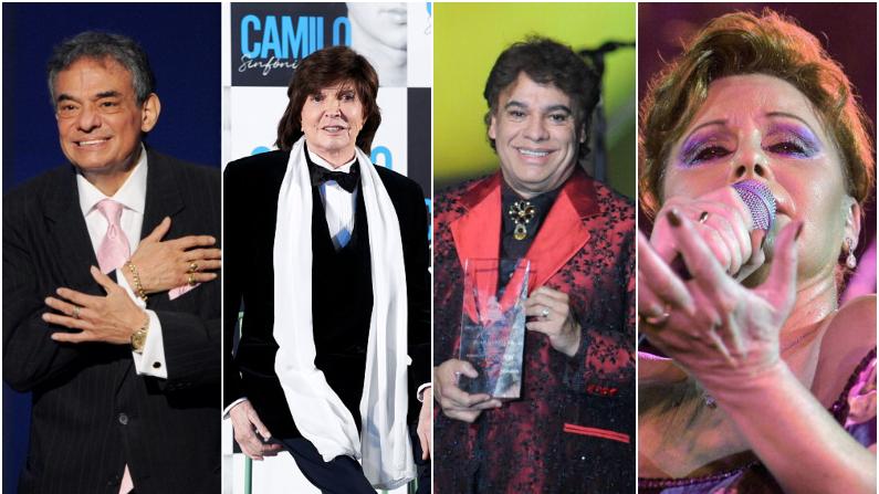 José José, Camilo Sesto, Juan Gabriel y Rocío Dúrcal (Getty Images)