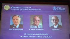 Trio que desenvolveu baterias de íons de lítio divide o Nobel de Química
