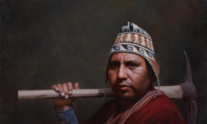 """Entre Generaciones"" de Pablo Roque. Óleo sobre lienzo, 80 x 65 cm. (Pablo Roque)"