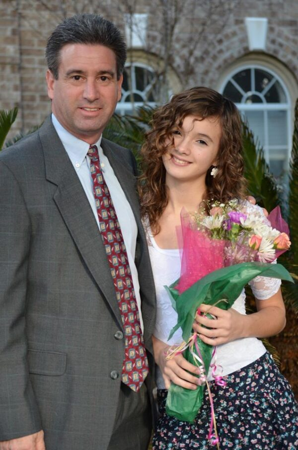 Courtney Litvak, durante su primer año de secundaria