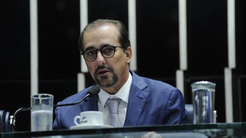 Em pronunciamento, ministro do Tribunal Superior Eleitoral (TSE), Admar Gonzaga Neto (Foto: Jane de Araújo/Agência Senado)