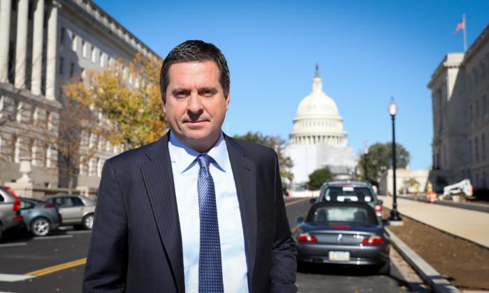 El representante Devin Nunes (R-Calif.), miembro de alto rango del Comité de Inteligencia de la Cámara de Representantes, en Washington el 28 de octubre de 2019. (Samira Bouaou/The Epoch Times)