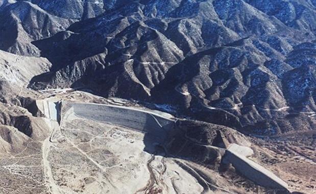 La presa del río Mojave aparece en esta foto sin fecha. (Cuerpo de Ingenieros del Ejército de Estados Unidos)