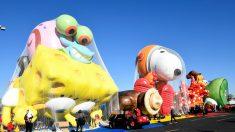 Globos gigantes del Desfile del Día de Acción de Gracias de Macy's en Nueva York podrían quedar en Tierra este año