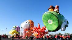 Los globos gigantes de Macy's desafiaron al viento en el desfile de Acción de Gracias