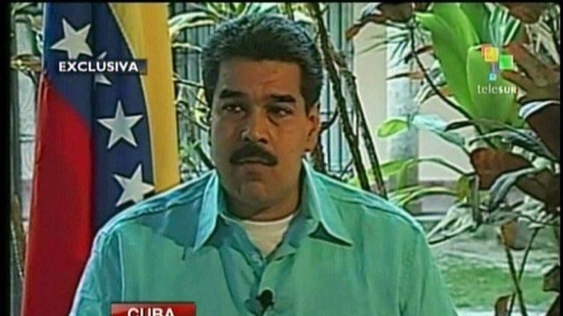 Captura de televisión de Nicolás Maduro, durante una entrevista en La Habana el 1 de enero de 2013, por Telesur (AFP vía Getty Images)