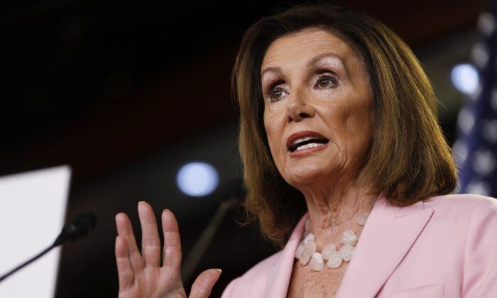 La presidenta de la Cámara de Representantes, Nancy Pelosi, demócrata de California, en Capitol Hill, Washington, el 12 de septiembre de 2019. (Tom Brenner / Getty Images)