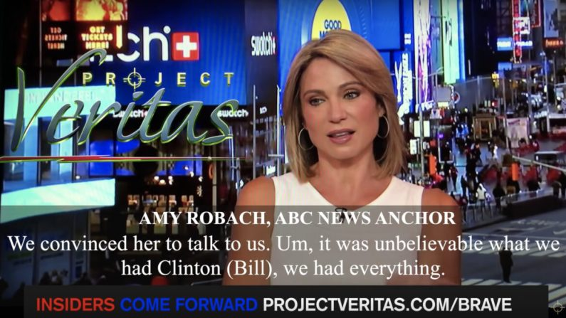 Amy Robach de ABC afirmó que el canal omitió la historia de Epstein hace 3 años, en un video publicado por Project Veritas. (Captura de pantalla/Proyecto Veritas)