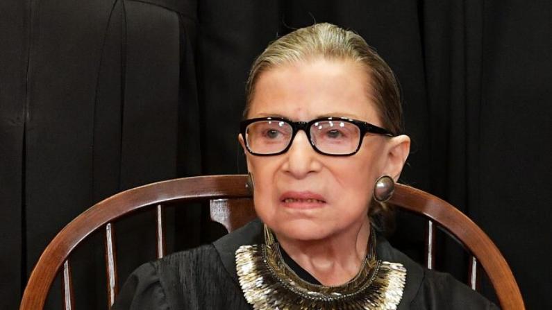 La Jueza Ruth Bader Ginsburg en la Corte Suprema en Washington el 30 de noviembre de 2018. (Mandel Ngan/AFP/Getty Images)