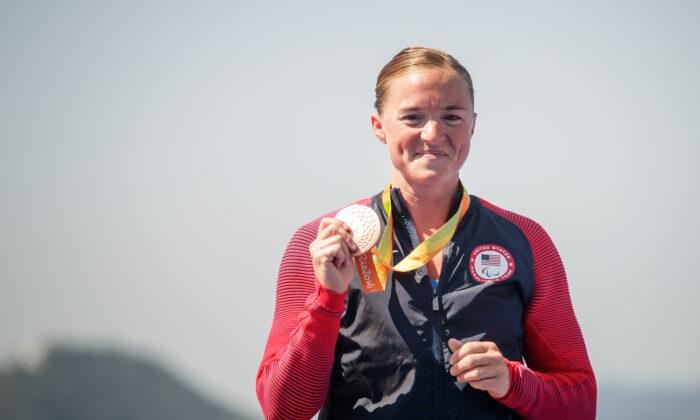Melissa Stockwell es una veterana y paralímpica del ejército de los Estados Unidos. (Triatlón de EE. UU. / Joe Kusumoto)