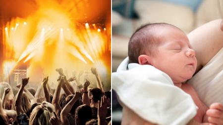 """Joven de 19 años da a luz en un club nocturno y su bebé tiene """"entrada gratuita de por vida"""""""