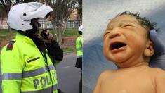 Policía colombiano reanimó a un recién nacido siguiendo instrucciones por teléfono, fue un acto heroico