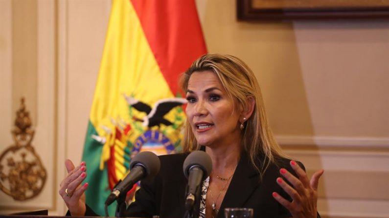 Presidenta interina de Bolivia, Jeanine Áñez. (EFE / Rodrigo Sura)
