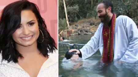 La cantante pop Demi Lovato comparte su experiencia de recibir el bautismo en Israel