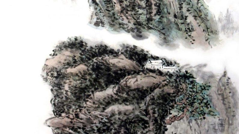 """Después de más de 10 pasos en el arroyo, aparecieron algunas casas. El anciano dijo: 'Todavía no puedes ir directamente a la montaña conmigo. Quédate aquí durante aproximadamente un mes y te visitaré"""". (Sun Mungguo / La Gran Época)"""