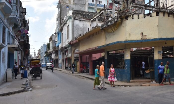 Vista de la calle Neptuno 685 tomada en La Habana, el 12 de noviembre de 2019. (Adalberto Roque/AFP vía Getty Images)