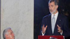 Felipe VI aboga por los derechos humanos y la democracia ante el líder cubano Díaz Canel