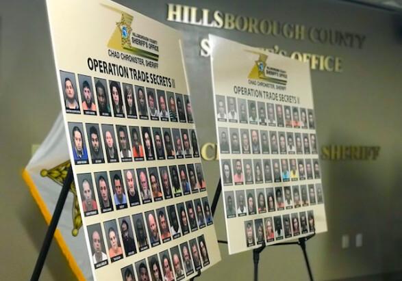 104 personas fueron arrestadas por la Oficina del Sheriff del Condado de Hillsborough como parte de una operación encubierta. (Oficina del Sheriff del Condado de Hillsborough)