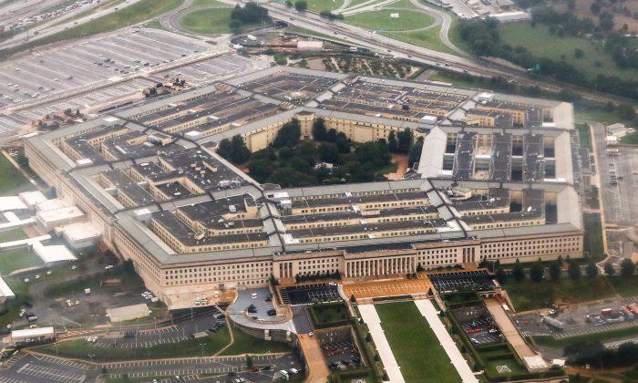 Vista aérea del Pentágono en Arlington, Virginia, el 12 de agosto de 2018. (Charlotte Cuthbertson/La Gran Época)