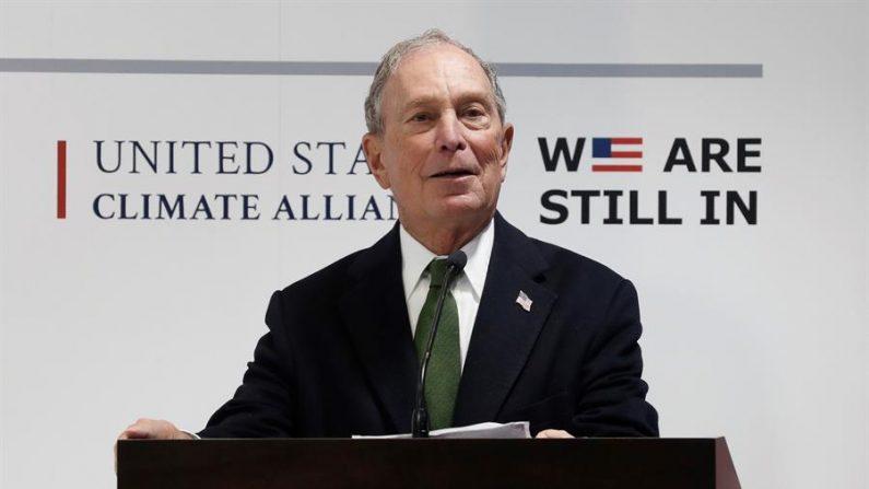 El presidente de Bloomberg Global Business Forum, Michael Bloomberg, durante su asistencia a la Cumbre del Clima COP25, 10 de diciembre de 2019. (EFE/Zipi)