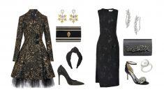 El clásico vestido negro se transforma para las fiestas navideñas