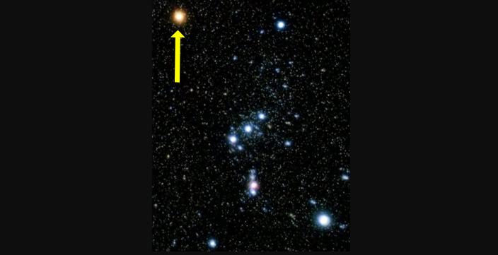 Estrella Betelgeuse y la constelación Orión (NASA: https://nightsky.jpl.nasa.gov/news-display.cfm?News_ID=560)
