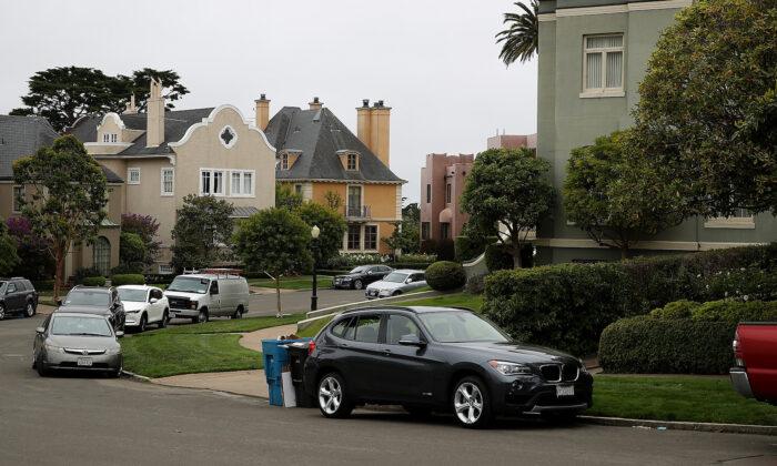 Una vista de las casas en San Francisco el 9 de agosto de 2017. (Justin Sullivan / Getty Images)