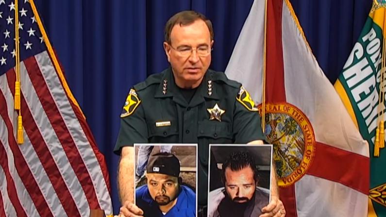 El Sheriff del condado de Polk ofrece declaraciones en la rueda de prensa sobre los resultados de la Operación Trifecta. (Polk County Sheriff's Office)