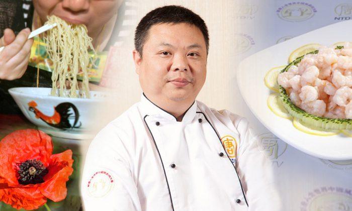Chef se esfuerza por cocinar la auténtica comida china