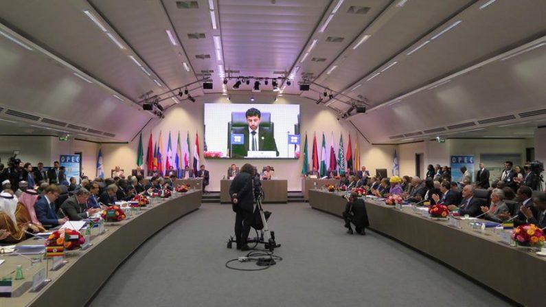 Reunión del grupo apodado OPEP+ en Viena. EFE/Lera/Archivo
