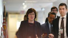 """Senadora Collins: """"Es inapropiado"""" para republicanos y demócratas prejuzgar el veredicto de Trump"""