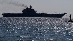 Se incendia el portaaviones ruso Kuznetzov registrando varios heridos