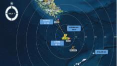 Declaran siniestrado un avión chileno que viajaba a la Antártida con 38 personas a bordo