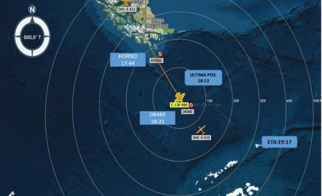 La Fuerza Aérea de Chile (Fach) informó que un avión C130 Hércules que viajaba el 9 de diciembre a la Antártida con 38 personas a bordo fue declarado siniestrado después que transcurrieron más de siete horas desde que se perdiera el  contacto radial con el piloto. (FACH)