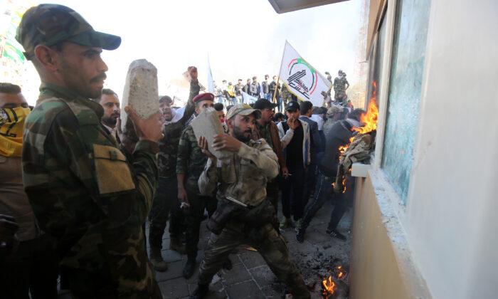 Image result for trump pide proteccion a su embajada irak