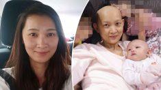 Mamá embarazada con cáncer de mama en etapa 3 supera probabilidades y da bienvenida a una bebé sana
